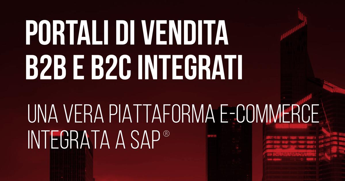 Portali di vendita B2B e B2C integraticon Sana e SAP